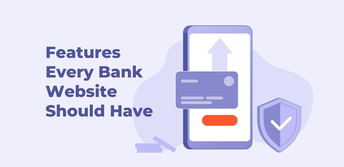 features for banks websites