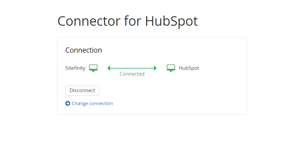 sitefinity connector for hubspot