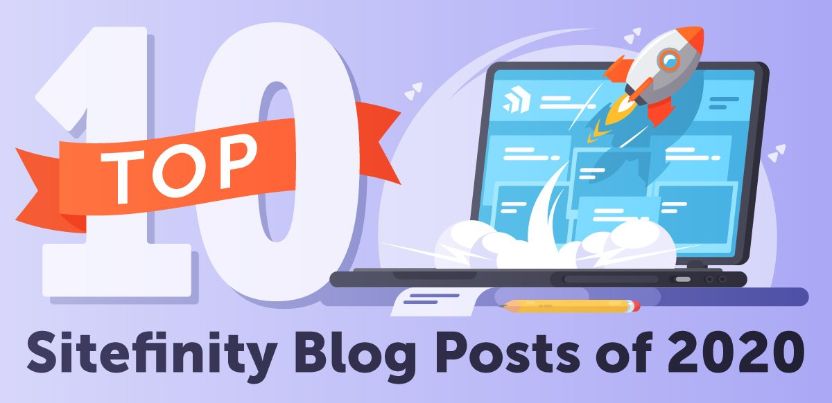top sitefinity blog posts graphic